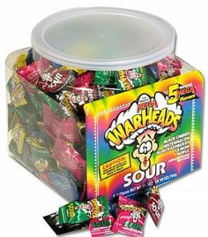Warheads Extreme Sour Hard Candy Pack of 240 Bulk Candy, Hard Candy, Wholesale Candy, Sugar Free Candy, Candy Brands, How To Make Smoothies, Sour Candy, Favorite Candy, Food Goals