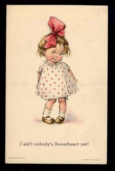 vintage illustrations, I love them Vintage Valentine Cards, Vintage Greeting Cards, Vintage Pictures, Vintage Images, Retro Poster, Children's Book Illustration, Vintage Children, Vintage Postcards, Vintage Prints