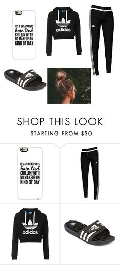 """""""Chill day"""" by dayonnarucker1234 on Polyvore featuring Casetify, adidas and Topshop"""