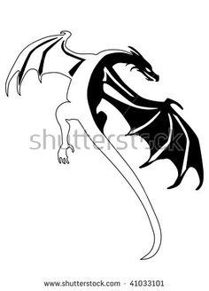 tattoo print with dragon