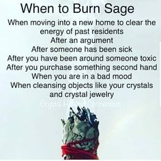 What you need to know about sage burning and There Health Benefits from Burning Sage Smudging Prayer, Sage Smudging, Vie Positive, Spiritual Cleansing, Spiritual Health, Under Your Spell, Smudge Sticks, Practical Magic, Kitchen Witch