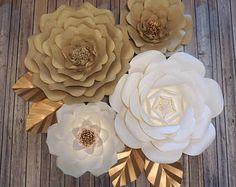 Flores de papel-juego de 4