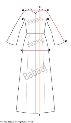 How to Measure Your Jubah Dress or Abaya