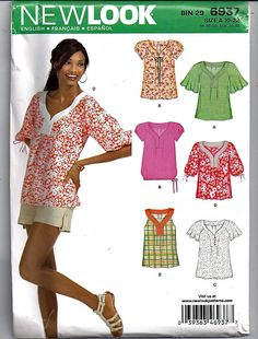 bb854ae137 Seven Styles of Tops For Women   Original Simplicity NewLook Sewing Pattern  6937… Digital Pattern