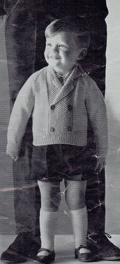 1950s Vintage Little Boys' Cardigan by VeryVintageKnitting on Etsy, £0.99