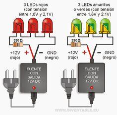 LEDs a 12V muy fácil - Taringa!
