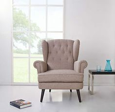 Monroe-armchair-grey-black-victorian-high-wing-back-scrolled-accent-arm-chair