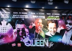 Rendez-Vous at Queen. The Queen club is an institution in Paris' night life that wrote gay clubbing history in the 1990s. Now it attracts a rather metrosexual crowd including some wannabes enjoying their VIP tables in this in-club.