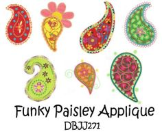 Embroidery Designs | Free Machine Embroidery Designs | JuJu Funky Paisley Applique