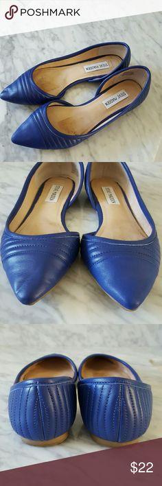Steve Madden Flats Leather Steve Madden Royal blue flats, excellent condition! Steve Madden  Shoes Flats & Loafers