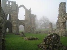 castle ruins norfolk, england