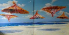 "Blue Contemporary #Artist: Georgi Andonov ""Lite"" 78 x 157 in, Oil on canvas £25,000.00 #contemporary #art"