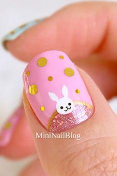 16 cute easter nail designs - best easter nails and nail art ideas Easter Nail Designs, Easter Nail Art, Cute Nail Designs, Toe Designs, Pedicure Designs, Christmas Nail Art, Holiday Nails, Nail Polish Stickers, Green Nail Polish