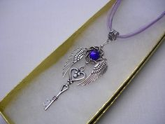Romantic Key to My Heart with Angel Wings by boricuatreasures, $8.99