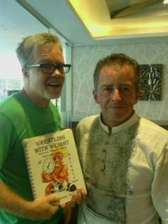 """I presented the Book """"wrestling with weight"""" to world champion boxing trainer Freddie Roach."""