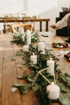 Minimalist Wedding Reception, Minimal Wedding, Wedding Reception Tables, Wedding Types, Wedding Fun, Wedding Bells, Boho Wedding, Dream Wedding, Wedding Ideas