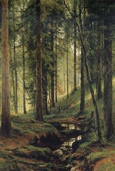 The Brook in the Forest, Ivan Shishkin