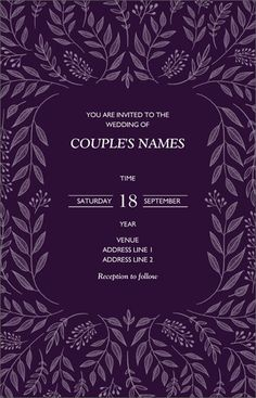 Personalize invitations and announcements to share all your big news while matching your chosen theme. Choose from thousands of designs that only look expensive. We offer coordinated sets of announcem Engagement Party Invitations, Custom Wedding Invitations, Wedding Invitation Templates, Wedding Stationery, Invites, Wedding Ceremony Programs, Wedding Menu Cards, Wedding Timeline, Bridesmaid Cards