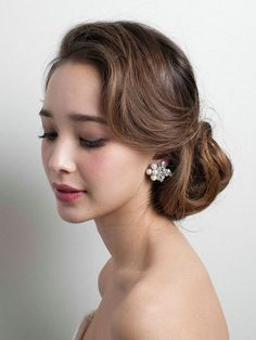 Bridal Makeup – Page 6 Bridal Hair Updo, Wedding Hair And Makeup, Wedding Updo, Bridal Makeup, Hair Makeup, Dress Hairstyles, Party Hairstyles, Bride Hairstyles, Vintage Hairstyles