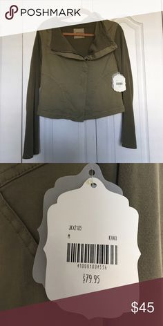 Olive green jacket New with tags, never worn. Altar'd State Jackets & Coats Utility Jackets