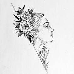 Pretty Drawings, Cool Art Drawings, Tattoo Sketches, Art Sketches, Tattoo Design Drawings, Stippling Tattoo, Skull Tattoo Flowers, Cute Doodle Art, Mandala Art Lesson