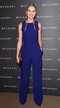 Naomi Watts & Eric Bana Travel to Switzerland for Bvlgari Event!: Photo Naomi Watts and Eric Bana are picture perfect while attending the Bvlgari LVCEA Unveiling held during the Baselworld on Thursday evening (March in Basel, Switzerland. Naomi Watts, Elie Saab, Marine Uniform, Look Fashion, Womens Fashion, Fashion Trends, Blue Jumpsuits, Playsuits, Lace Jumpsuit