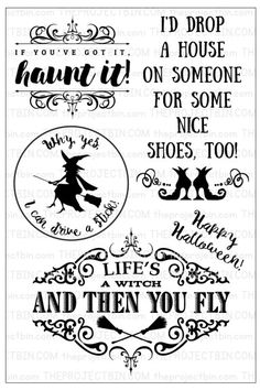 Haunt it Clear Stamp Set by The Project Bin.  #theprojectbin #Halloween #witchshoes #witch #Halloweencards #handmadecards #handmadeHalloweencards #rubberstamping #papercrafting #cre8time