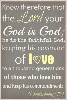 Deuteronomy 7:9 Amém