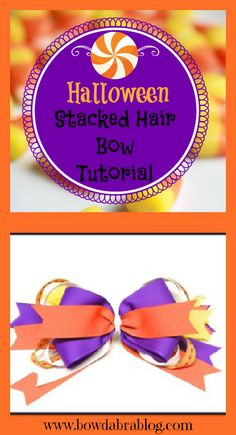 Halloween Stacked Hair Bow DIY Tutorial