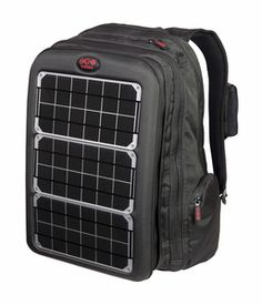Array Solar Laptop, cell phone and gadget Charger Backpack - Solar Bag - green power