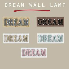 Leo Sims - Dream Wall Lamp for The Sims 4