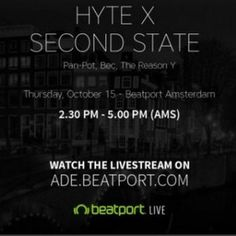 Pan Pot live @ HYTE x Second State (ADE 2015) – 15.10.2015