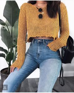 outfit, fashion, and clothes image - Top Trends Fall Winter Outfits, Autumn Winter Fashion, Summer Outfits, Casual Outfits, Yellow Outfits, Casual Winter, Mode Outfits, Fashion Outfits, Womens Fashion