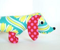 Stuffed Plush Wiener Dog Dachshund Soft Baby by FriendsOfSocktopus, $28.00