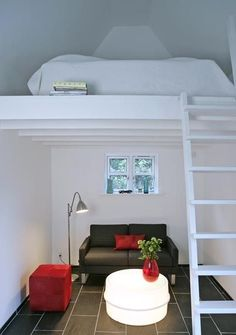 small apartments with loft | ... paris custom built small loft ...