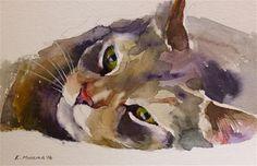 Katya minkina - portfolio of works: pets/commissions cats акварель, акварел Watercolor Sketch, Watercolor Artists, Watercolor Animals, Watercolor Illustration, Watercolor Paintings, Watercolors, Cat Drawing, Animal Paintings, Pet Portraits