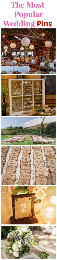 See All The Most Popular Wedding Pins for Rustic & Country Weddings!