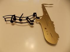 Saxophone Metal Wall Art by CUTTINGEDGECRAFTSMEN on Etsy