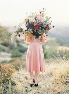 film photography and film wedding photographer, gorgeous lush bouquet inspiration, love the size of this thing!!