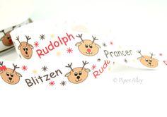 """7/8"""" Christmas Ribbon, Santa's Reindeer Ribbon, Narrow Ribbon, Holiday Ribbon Print, 5 yards"""