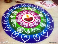 Happy Diwali Rangoli Designs Diwali is all about crackers, sweets, and beautiful Rangoli patterns. People make some beautiful and attractive Rangoli Easy Rangoli Patterns, Easy Rangoli Designs Diwali, Best Rangoli Design, Indian Rangoli Designs, Simple Rangoli Designs Images, Rangoli Designs Latest, Rangoli Colours, Colorful Rangoli Designs, Rangoli Ideas
