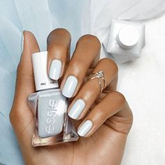 Slip into 'perfect posture' from the NEW essie gel couture ballet nudes collection. Get your hands on this gorgeous periwinkle powder blue nail polish for a long-lasting luxurious manicure here: www.essie.com/… We are want to say thanks if you like to share this post to... Essie Gel Polish, Blue Nail Polish, Blue Nails, Periwinkle Nails, Pastel Nails, Get Nails, How To Do Nails, Hair And Nails, Nail Art
