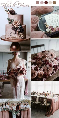 7 Chic and Romantic Blush Pink Modern Wedding Color Ideas old . - 7 Chic and Romantic Blush Pink Modern Wedding Color Ideas old time moody vintage dusty rose and burgundy wedding colors Burgundy Wedding Colors, Fall Wedding Colors, Wedding Color Schemes, February Wedding Colors, Burgundy Colour, Romantic Wedding Colors, Vintage Wedding Colors, Wedding Color Combinations, Modern Wedding Flowers
