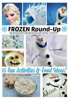 Fun FROZEN activities & food ideas! #frozen #crafts #toddler #kid #activity
