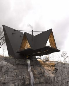 The Iranian Architect & Interior designer Milad Eshtiyaghi has evnisioned a suspended cliff house planned to be built in #Mendocino, #California, USA. #architecture #architect #amazingarchitecture #design #interiordesign #interiordesigner #decor #homedecor #home #house #luxury #diy #travel #amazing #photography #realestate #casa #arquitecto #arquitectura #decoration #cliff #cliffhouse #cabin #suspended #suspendedhouse #render #vray #3d #lumion #nature #unitedstates #3dsmax #houseplan Amazing Architecture, Architecture Design, Mendocino California, Cliff House, Fighter Jets, House Plans, Real Estate, Photo And Video, Interior Design