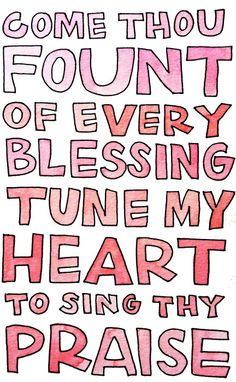 One of my favorite hymns.