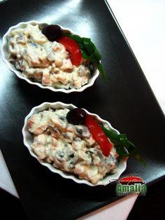 Salata de pui cu ciuperci (Salata cu pui si ciuperci)   imagine reteta