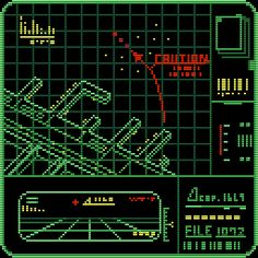 Byte Sized — Assorted technical-looking images from Namco's. Game Interface, Interface Design, Science Fiction, Science Art, Pixel Art, Retro Design, Graphic Design, Cyberpunk City, Vaporwave Art