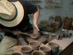 SIMON LEACH POTTERY ~ Wedging and throwing T bowls ! - YouTube