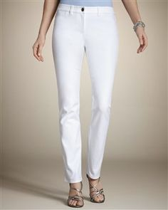 Need to get a new pair of white jeans--mine are too big since I lost weight!